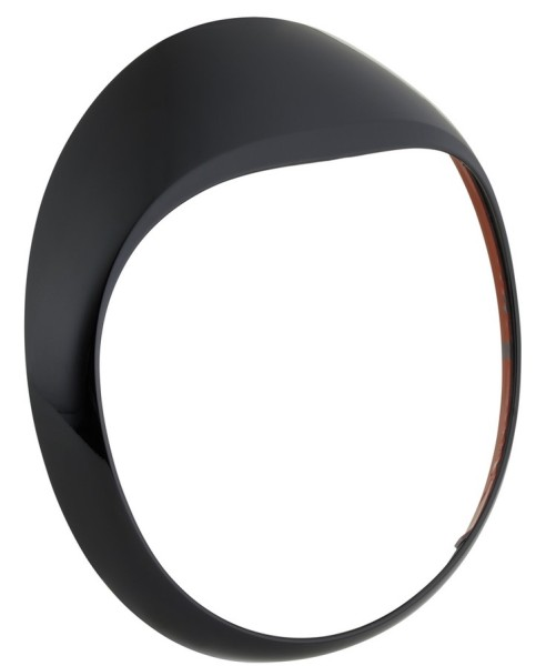 Koplamp rand voor Vespa GTS/GTS Super/GT/GT L 125-300ccm, zwart glanzend