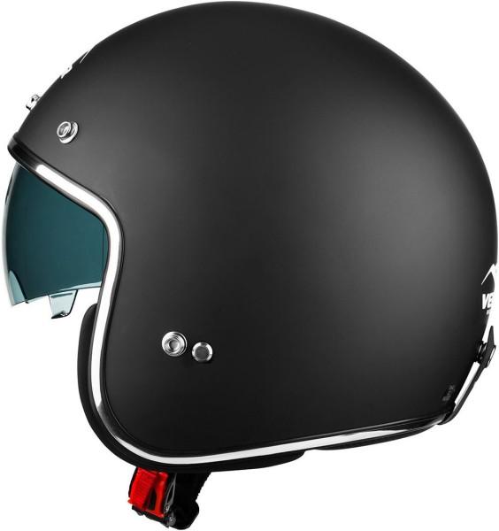 Vemar Chopper Jet helm matt zwart
