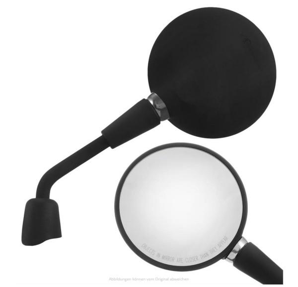 Spiegel Shorty zwart mat rechts en links voor Vespa Primavera 50-150ccm 2T/4T / GTS HPE 50-300ccm