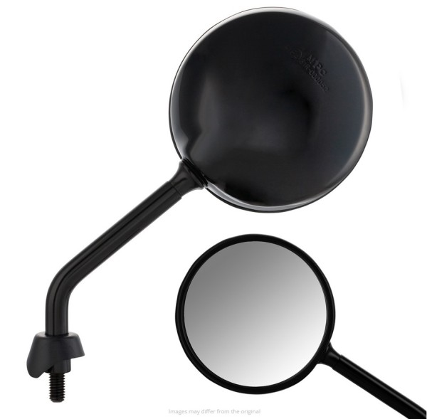 Spiegel Shorty voor Vespa, zwart glanzend, rechts en links