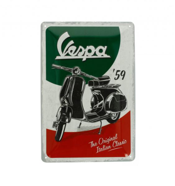 Vespa metalen plaat Vespa Italian Classic