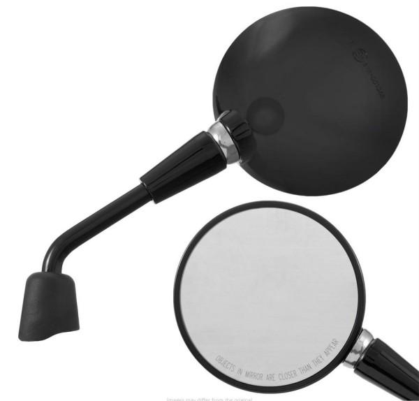 Spiegel Shorty, zwart glanzend, rechts en links voor Vespa Primavera 50-150ccm 2T/4T / GTS HPE 50-300ccm