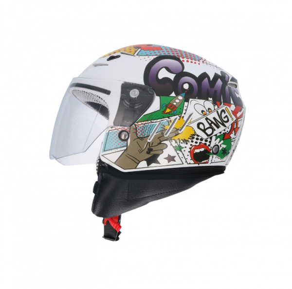 Shiro kinderhelm, SH20, Comic, wit/groen/rood