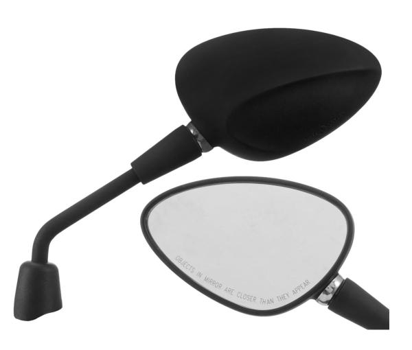 Spiegel Shorty zwart mat rechts en links voor Vespa Sprint 50-150ccm 2T / 4T