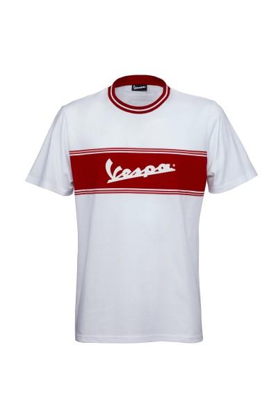 Vespa T-Shirt Racing Sixties 60s wit / rood