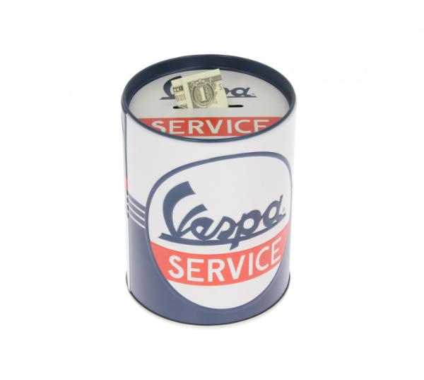 Vespa spaarpot Vespa Service, blik