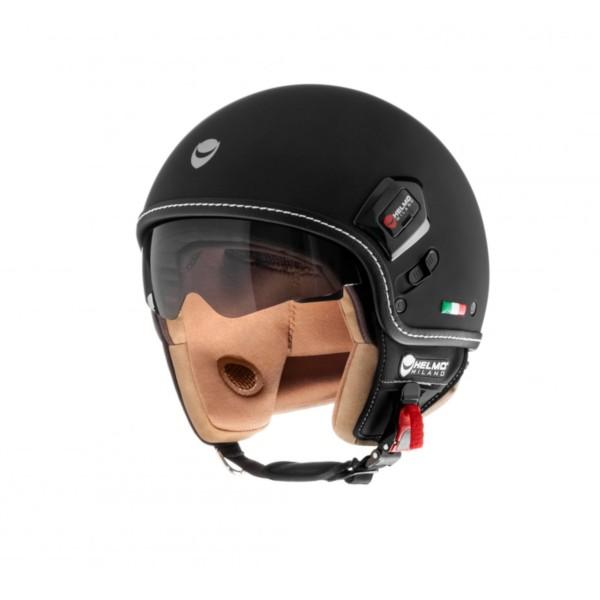 Helmo Milano Demi Jet, Puro Premium, zwart mat