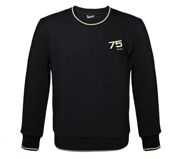Vespa sweatshirt 75 jaar - zwart