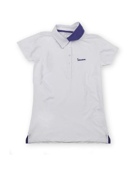 "Vespa Polo ""Vespa Logo"" vrouw wit"