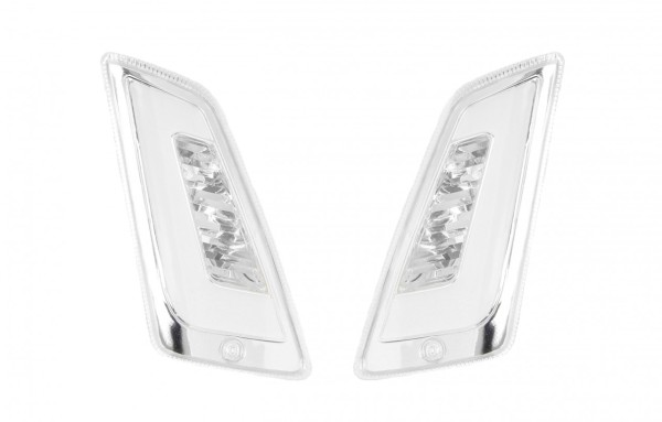 LED richtingaanwijzerset voor Vespa GT, GTL, GTV, GTS 125-300 front, getint