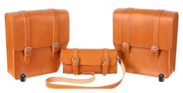 """Lederen tassen set """"Journey"""" voor WI-BIKE Original Piaggio"""