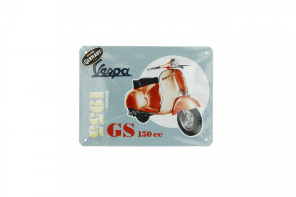 Vespa metalen plaat Vespa GS150 since 1955