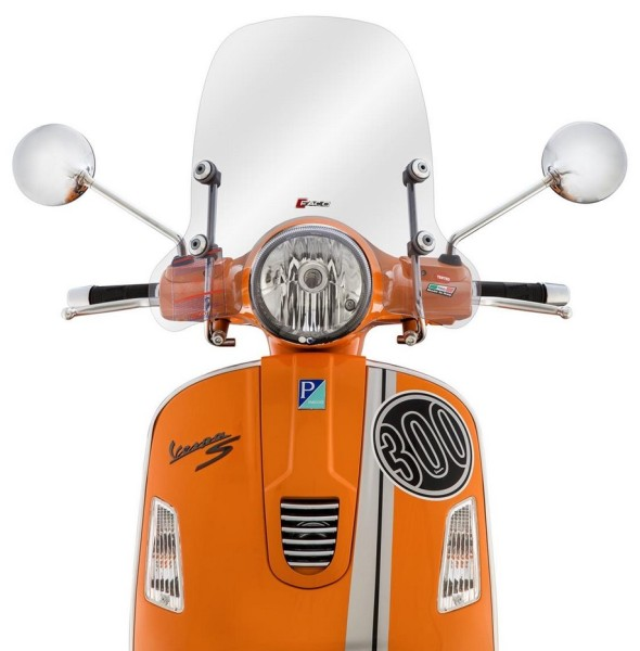 Windscherm halfhoog voor Vespa GTS/GTS Super/GT/GT L 125-300ccm, helder