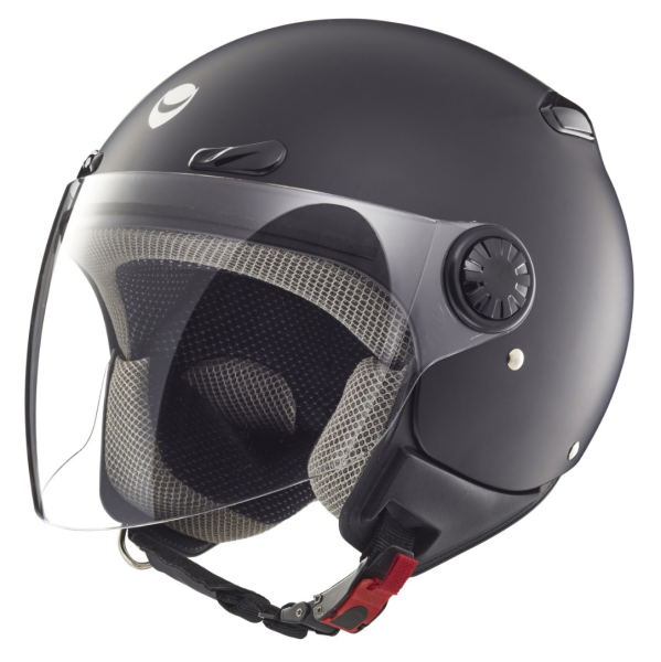 Helmo Milano jet-helm, Oscuro, zwart-mat