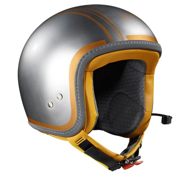 Vespa Helm Jet Elettrica Tech Chroom/ orange (Bluetooth)