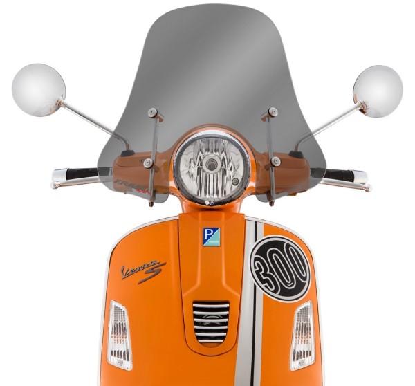Windscherm Sportivo voor Vespa GTS/GTS Super/GT/GT L 125-300ccm, halfhoog, getint