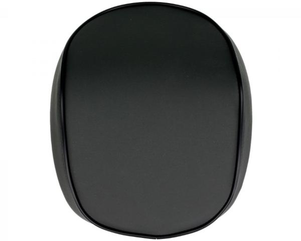 Original top box rugleuning Vespa Primavera / Sprint, zwart mat met zwarte bies