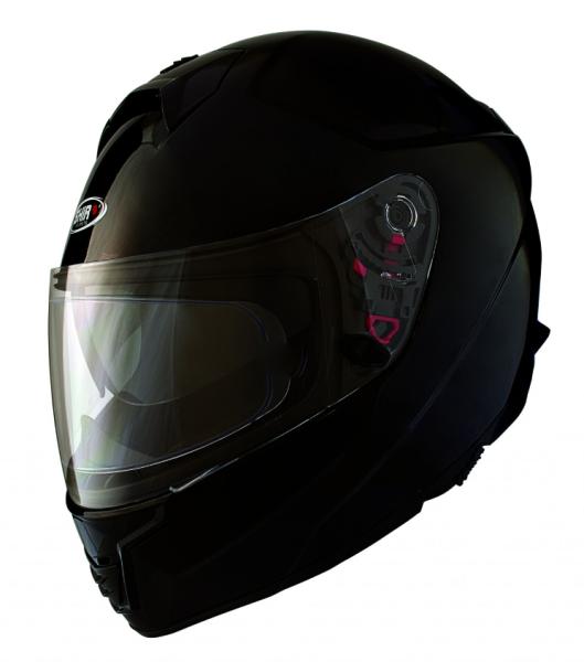 Shiro Volgelaatshelm, SH351, Fiber, zwart mat