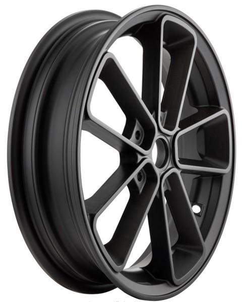 """Velg voor/achter 13"""" voor Vespa GTS/GTS Super/GTV/GT 60/GT/GT L 125-300ccm, matzwart"""