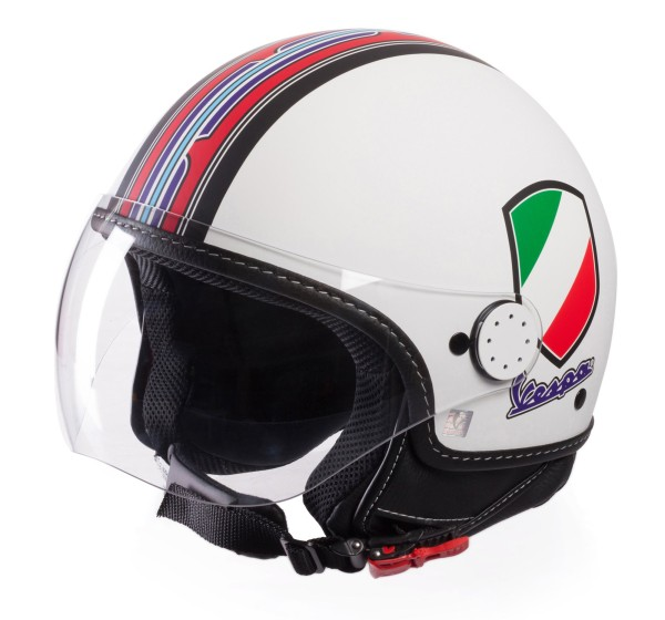 Vespa Helm Demi Jet V-Stripes, wit