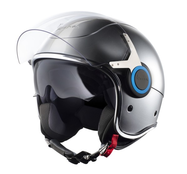 Vespa Helm Demi Jet VJ Elettrica - zilver