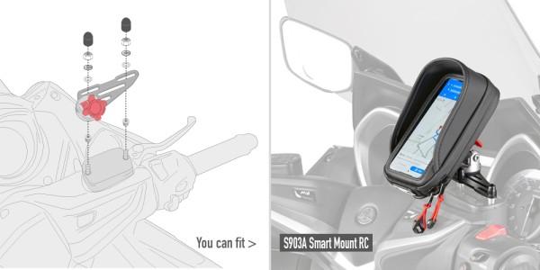 Montageset voor de beugel S903A voor remvloeistofreservoir aan het stuur Origineel Givi