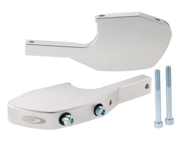 Voetsteunadapter passagier voor Vespa GTS/GTS Super/GTV/GT 60/GT/GT L 125-300ccm, zilver mat