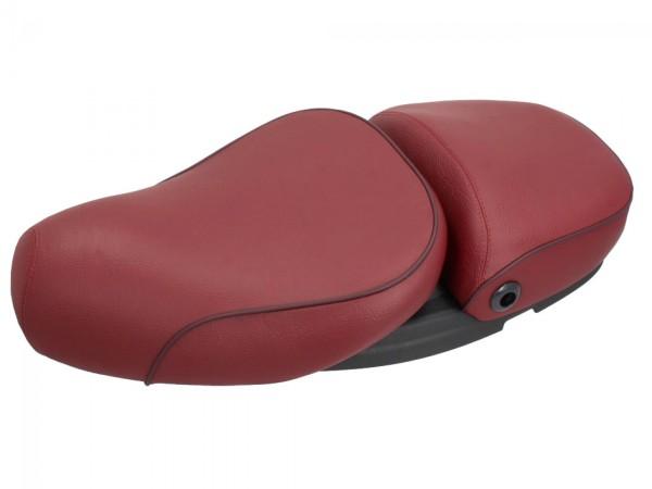 Vespa 2-zits echt lederen stoel rood voor LX 50-150cc Touring, ET2 / ET4 / LX / LXV / S 50-150cc-