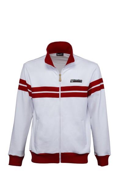 Vespa sweatjack Racing Sixties jaren 60 wit / rood