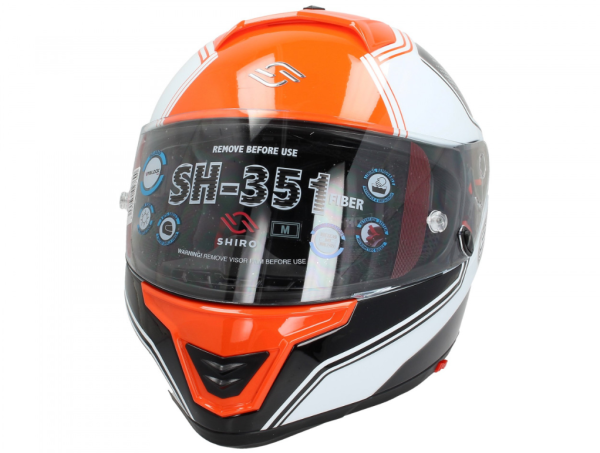 Shiro Volgelaatshelm, SH351, Fiber, F4, oranje