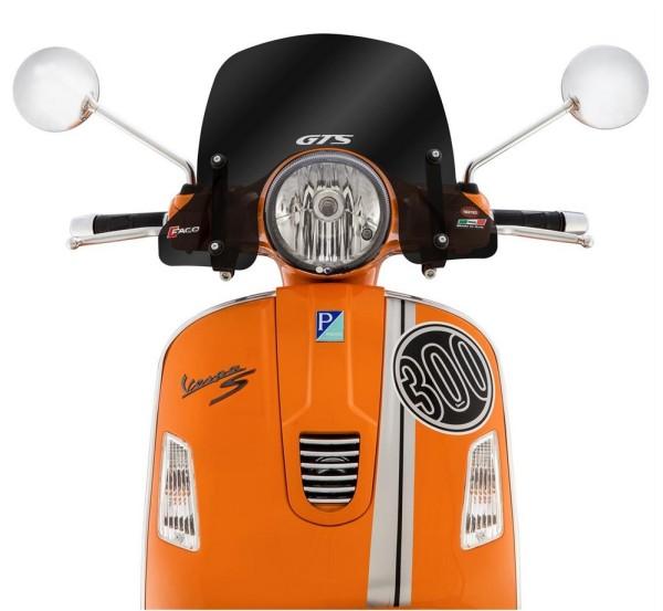 Windscherm halfhoog voor Vespa GTS/GTS Super/GT/GT L 125-300ccm, getint