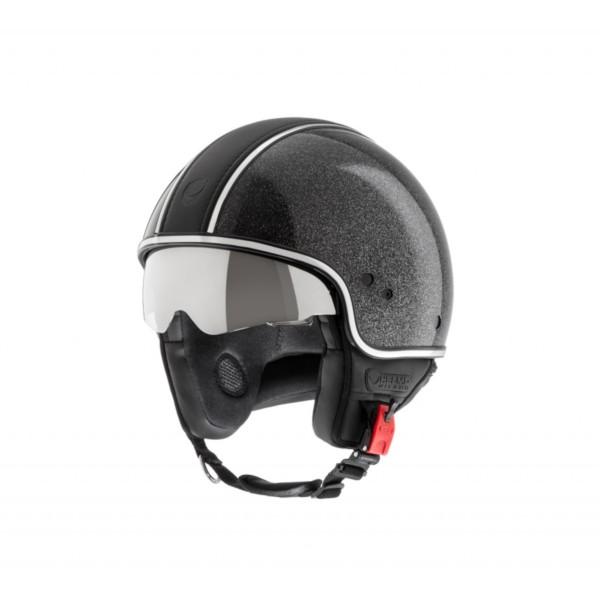 Helmo Milano Demi Jet, Puro Styles Limited, glanzend zwart, glitter