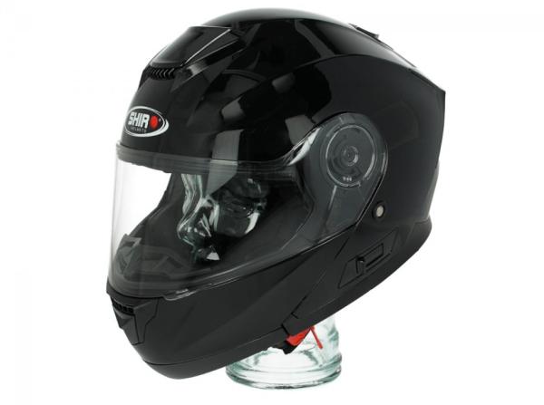 Shiro Flip Up Helm, SH507, zwart