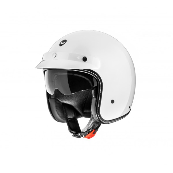 Helmo Milano open helm, Audace Monza, wit, glanzend