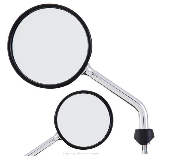 Spiegel Shorty voor Vespa, chroom, rechts en links