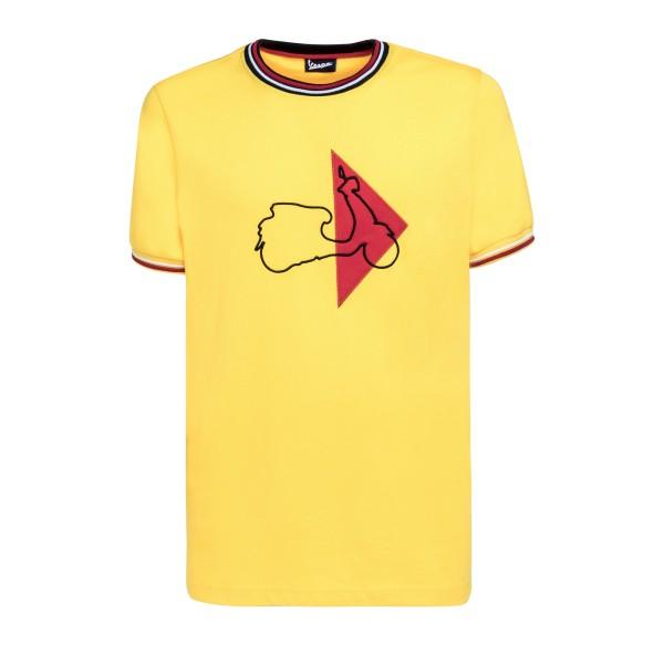 Vespa Modernist T-Shirt man geel