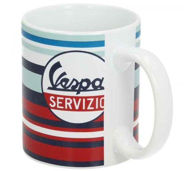 Vespa beker Servizio rood blauw