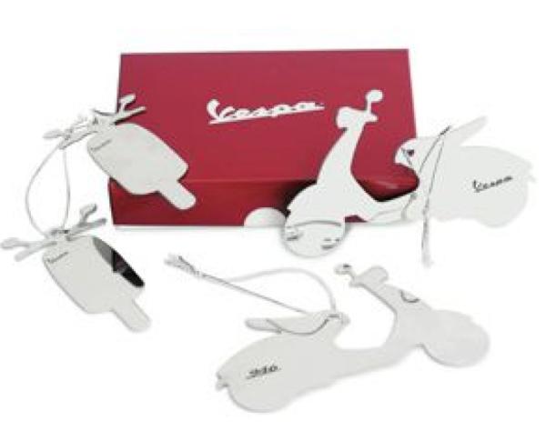 Vespa kerstboomversieringen, wit